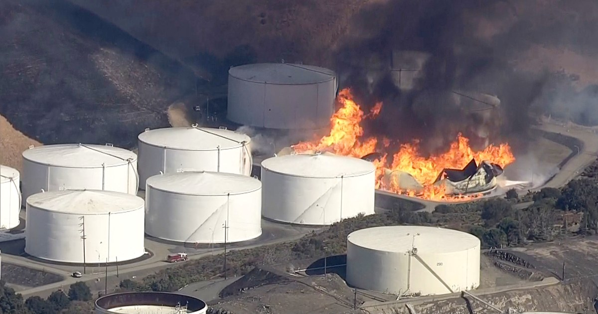 Η ενέργεια του πυρός δεξαμενών που περιέχονται στη Βόρεια Καλιφόρνια