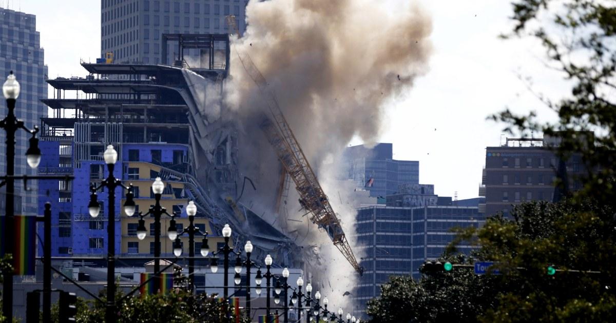Το βίντεο δείχνει γερανός κατεδαφίσεων στο χώρο του Hard Rock Hotel κατάρρευση στη Νέα Ορλεάνη