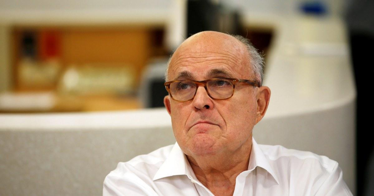 Rudy Giuliani butt-dials NBC reporter, heard discussing need for cash and trashing Bidens