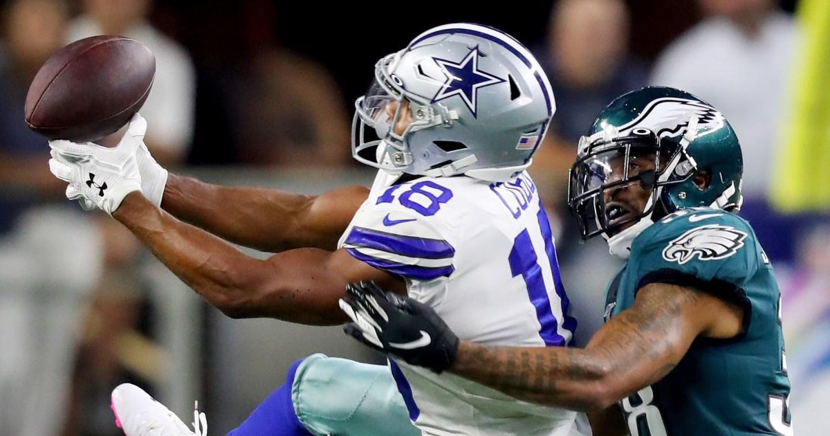 Cowboys menjalankan lebih dari Rajawali, mengambil 1 di Timur NFC dengan 37-10 menang