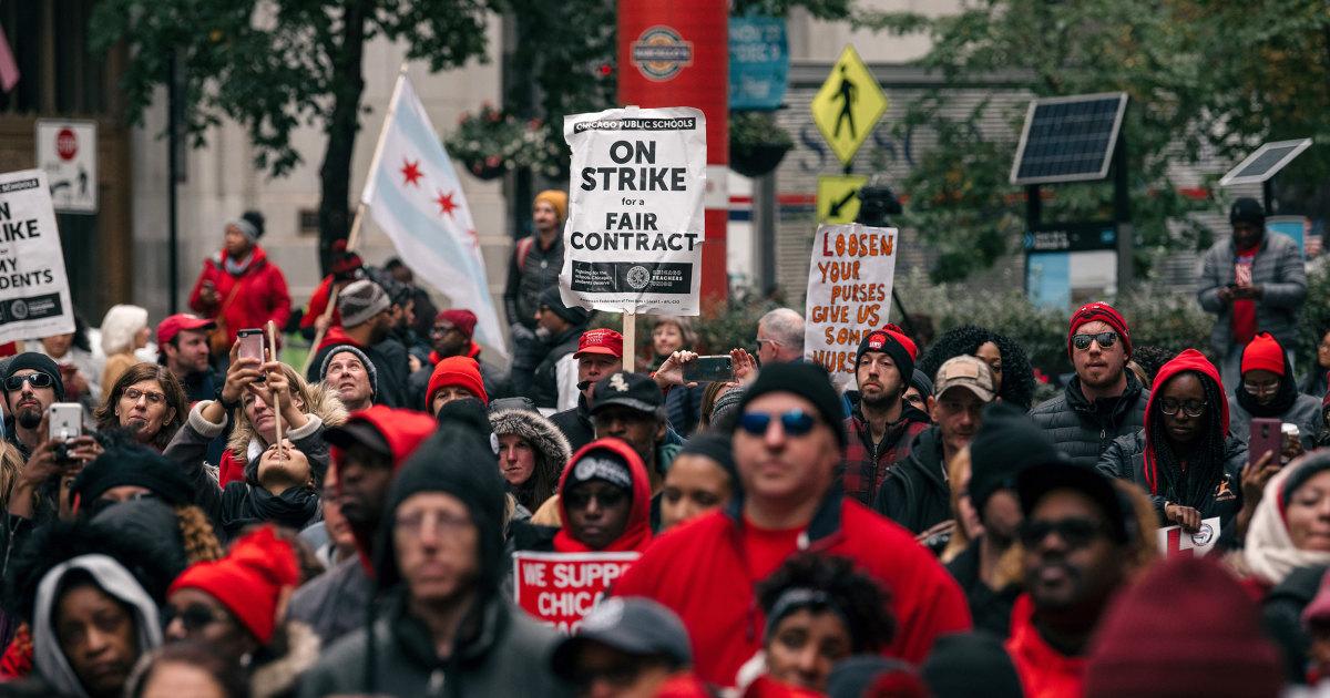 Chicago Lehrer union 'vorläufige Vereinbarung', aber Streik geht weiter
