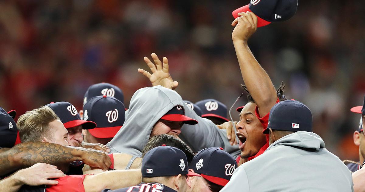 Staatsangehörige schlagen Astros zu gewinnen-franchise-die erste World Series