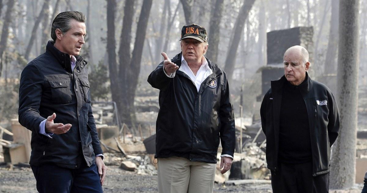 Trump droht zu ziehen Bundes-Hilfe für Kalifornien Waldbrände