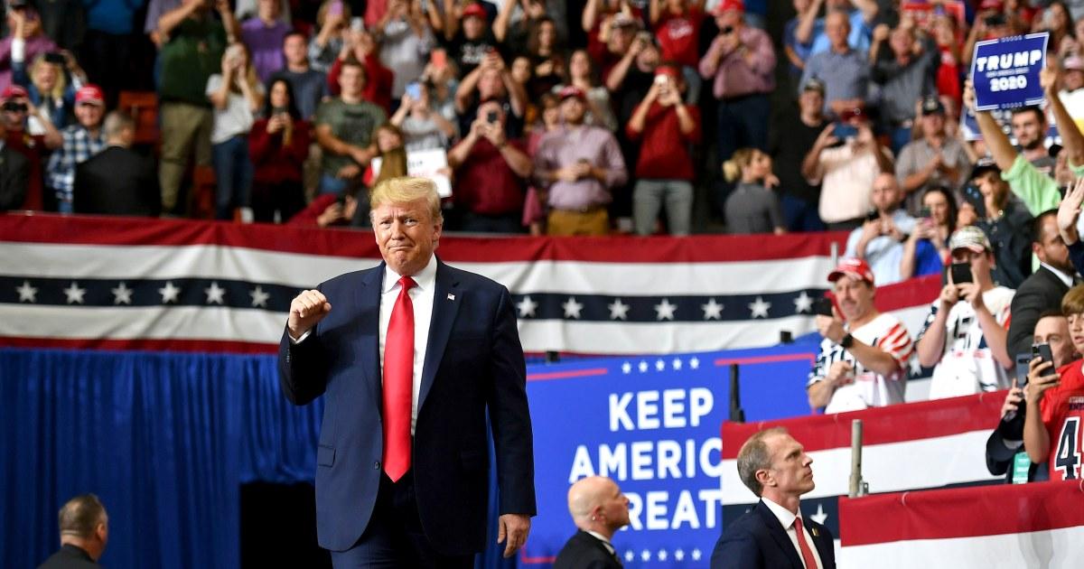 Trump Angriffe Demokraten als 'totalitäres' 'tun, illegale Handlungen