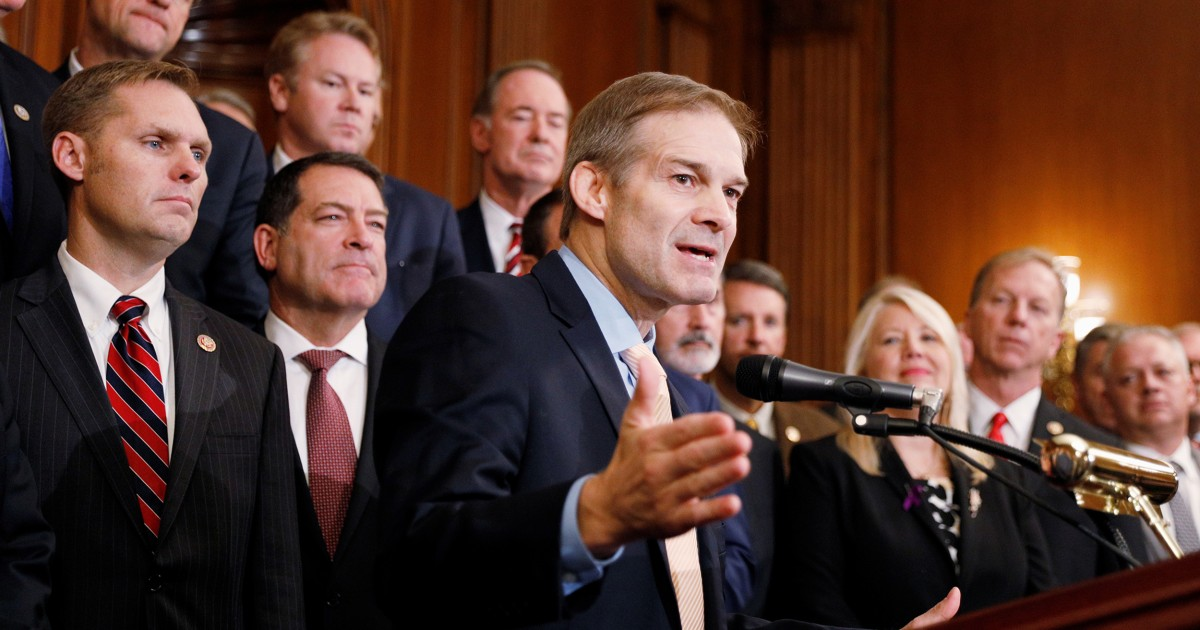 Rep. Jim Jordan tapped by GOP leader to grill witnesses at impeachment hearing