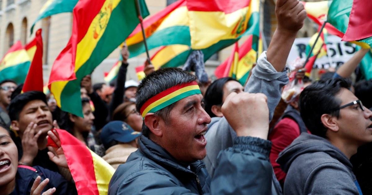 Bolivianische Führer fordert Neuwahlen unter Protesten -, Betrugs-Vorwürfe
