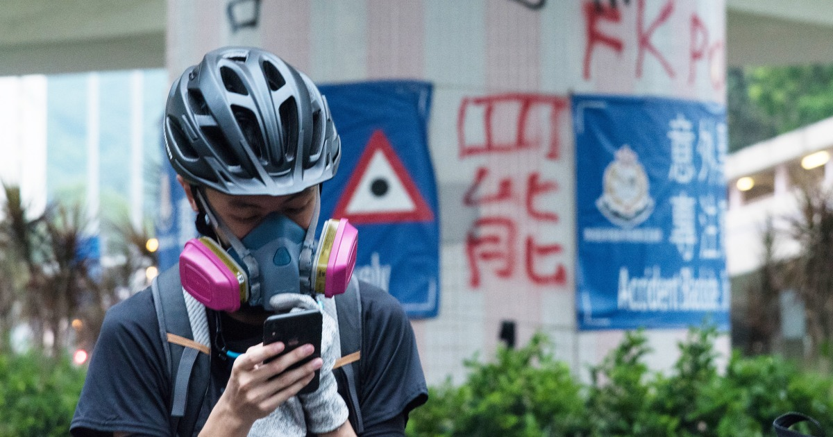 Hong Kong's student protesters organize and catch up on class the same way: Telegram