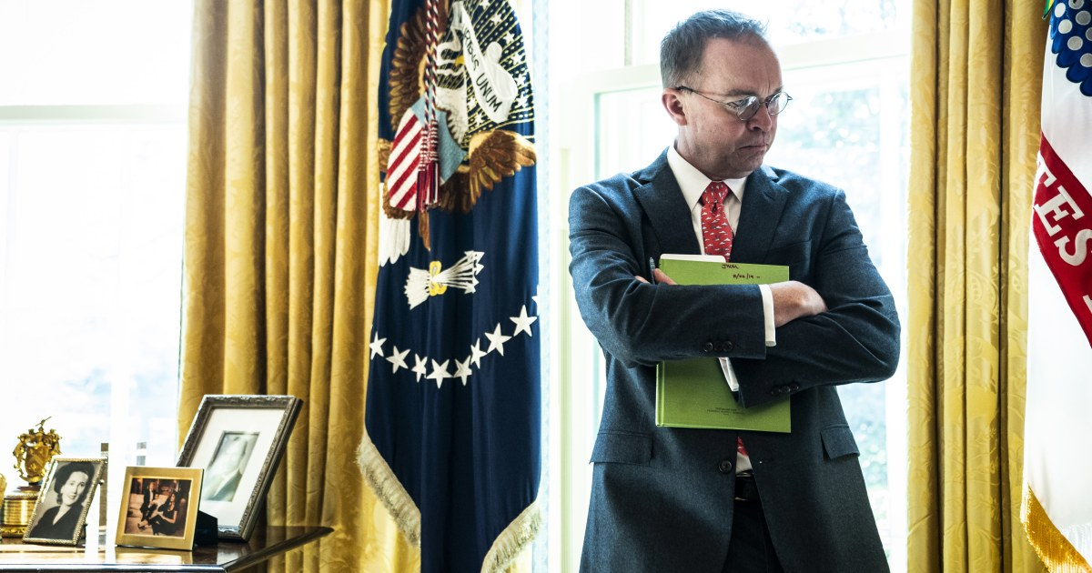 White House's Mulvaney acknowledges GOP's deficit hypocrisy