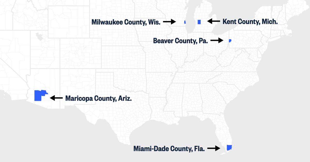 MAP: Key counties that may determine who voters elect in November