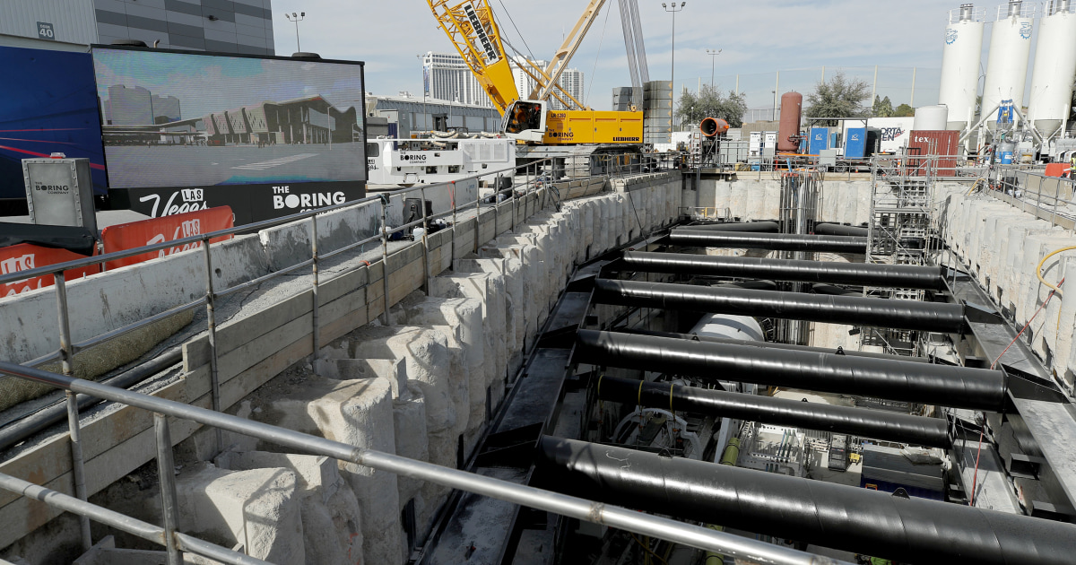 In Las Vegas, Elon Musk ist tunneling company gräbt in