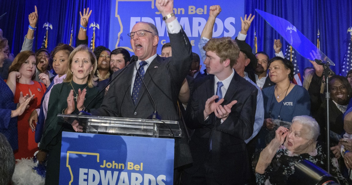 Democratic Louisiana Gov. John Bel Edwards wins re-election in blow to Trump