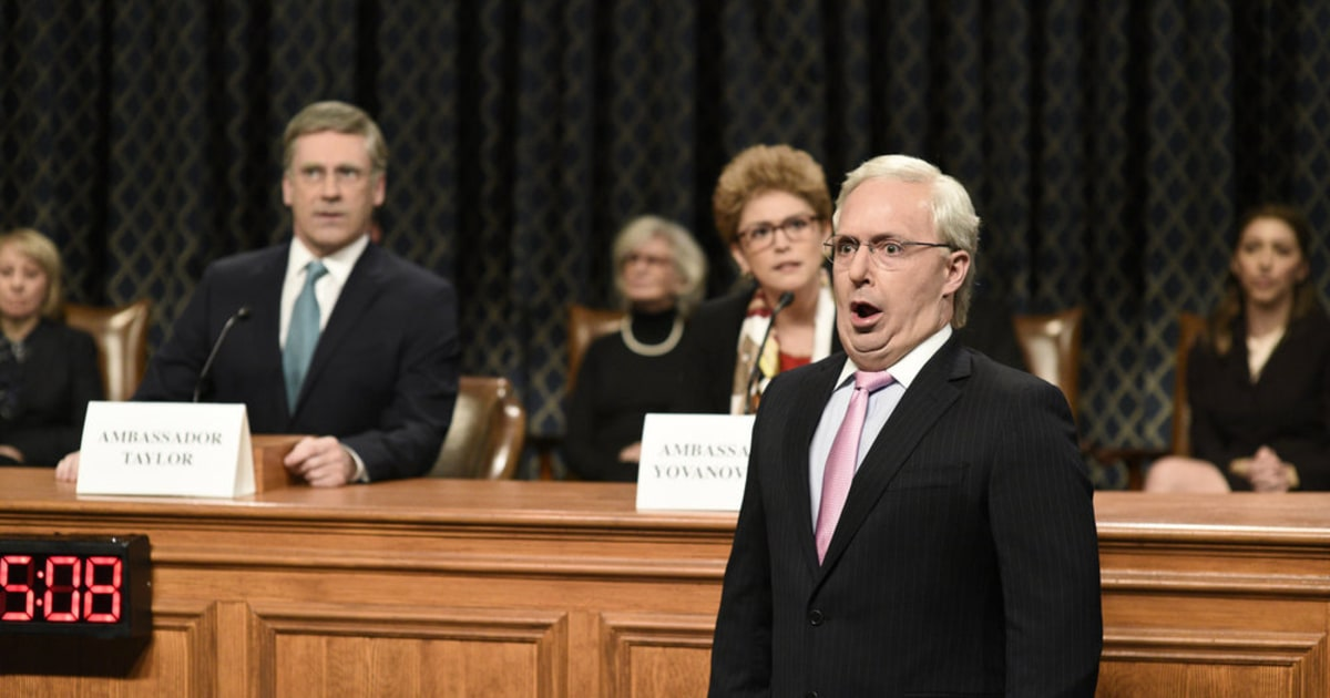 'Saturday Night Live' thinks impeachment hearings are a soap opera