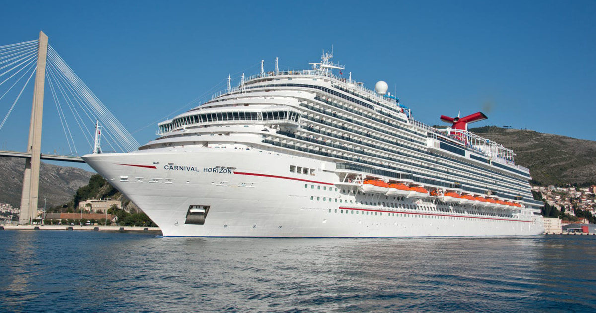 Carnival Horizon passenger dies in fall from cruise ship balcony