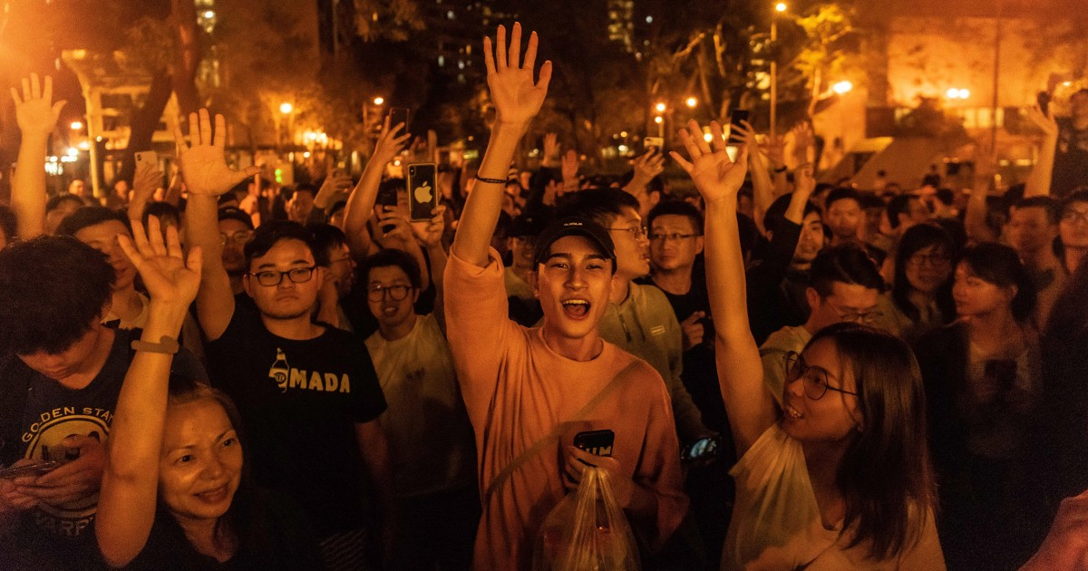 China issues stern response to landslide victory of Hong Kong pro-democracy forces