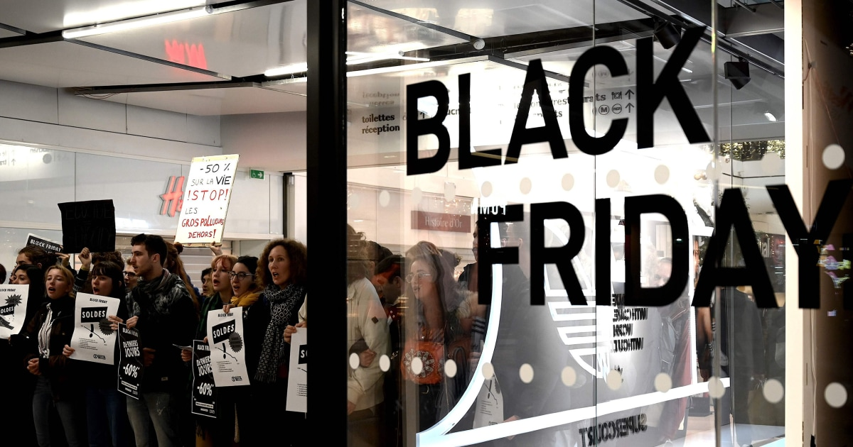 Black Friday sales -, Klima-Proteste kick-off rund um die Welt