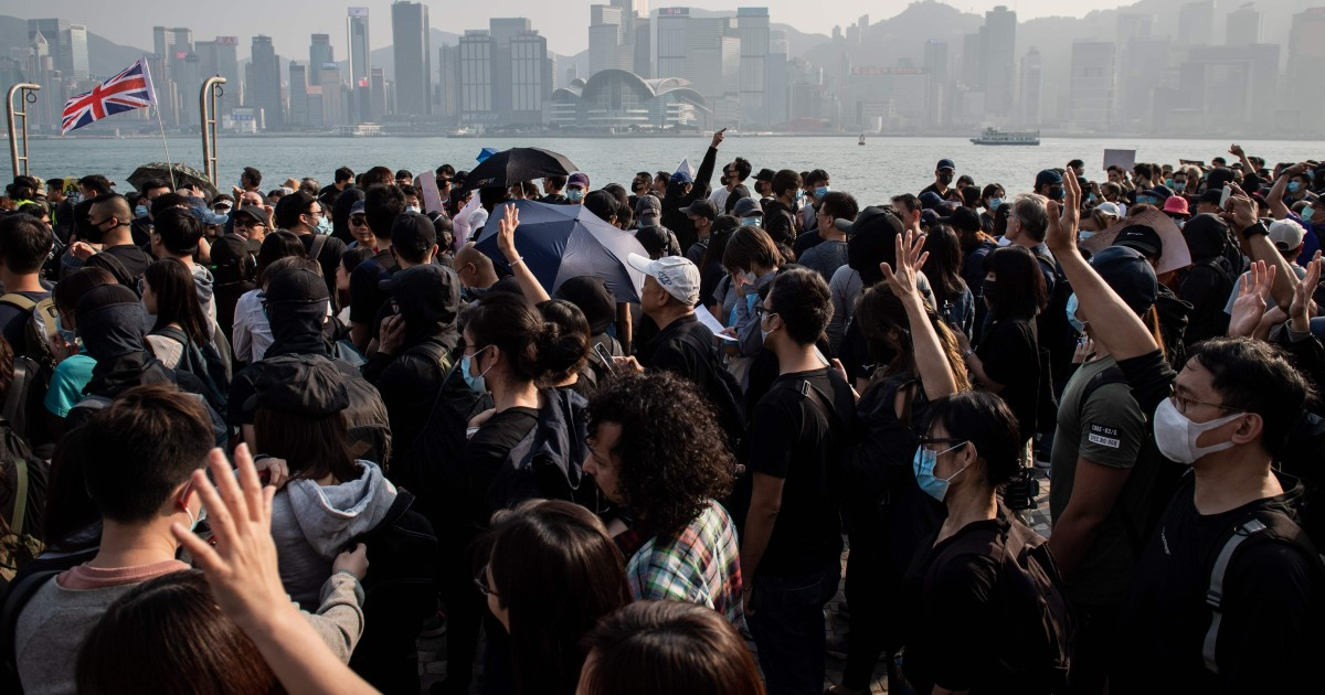 Tausende nehmen, um zu Hong Kong Straßen in frischen Proteste nach der Woche der Siege