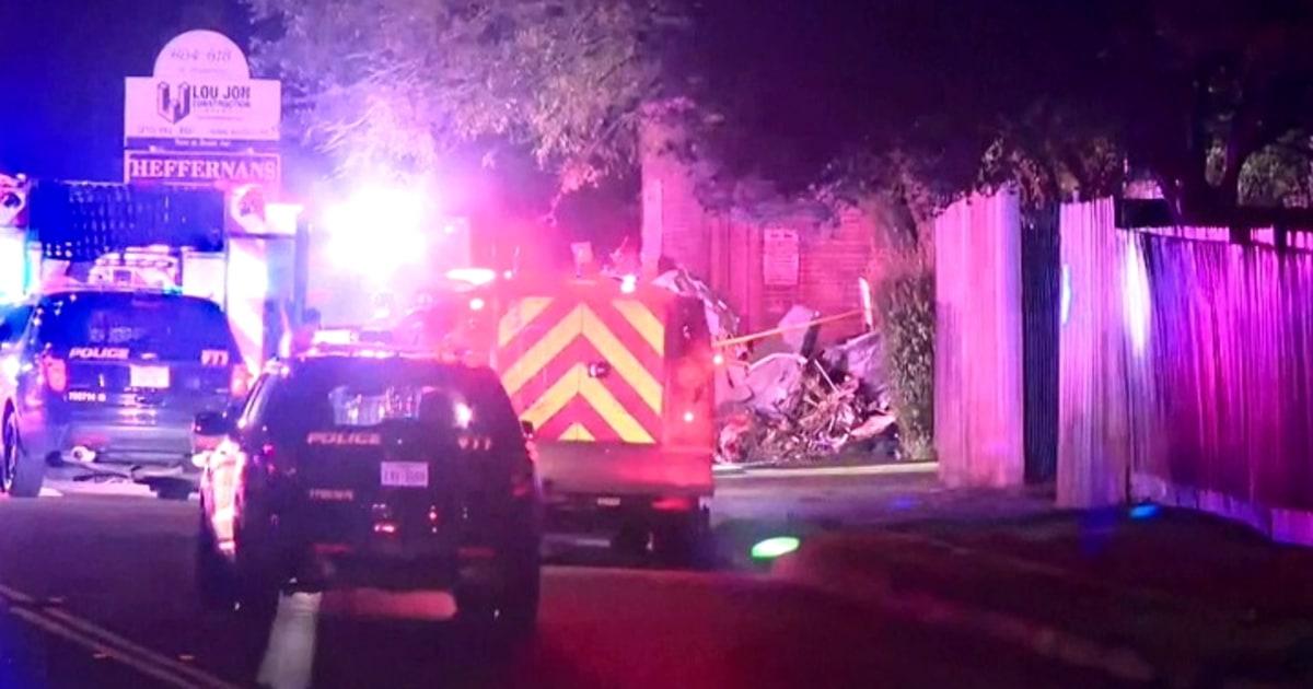 三殺害された小型飛行機事故で忙しい地域のサンアントニオ