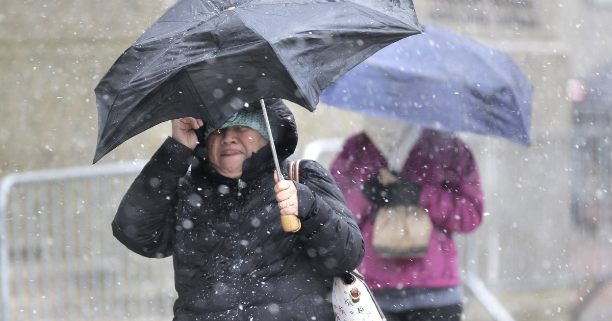 Stubborn storm bringing heavy snow to parts of Northeast to linger at least another day