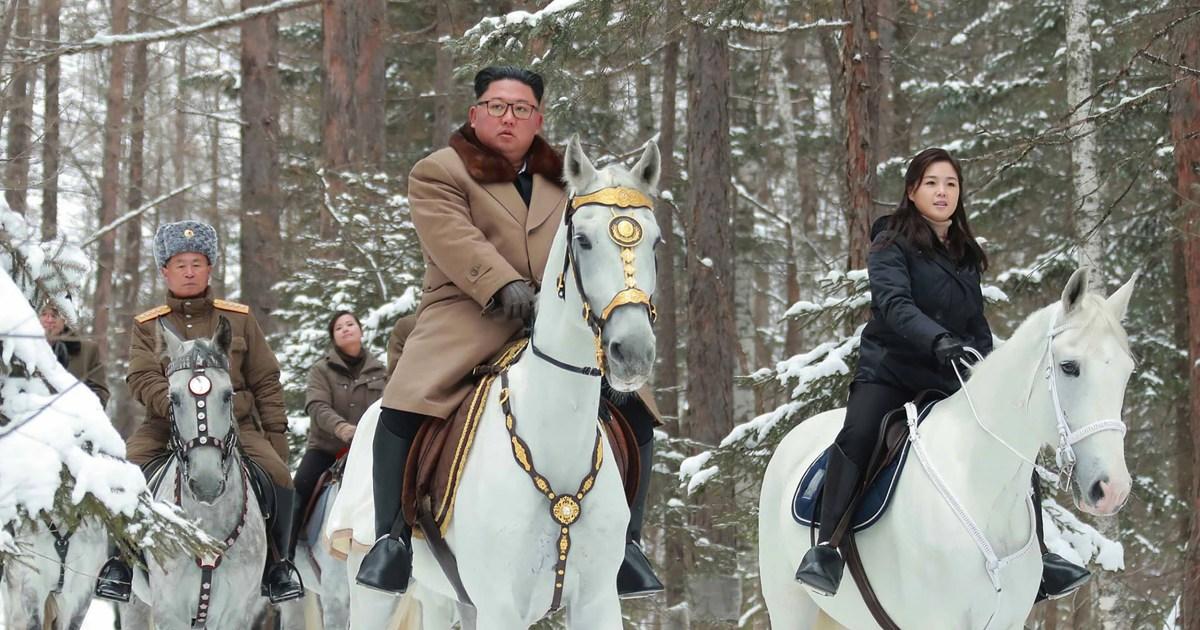 Kim naik kuda sampai simbolis puncak untuk 2 kali sebagai N. Korea raps Truf