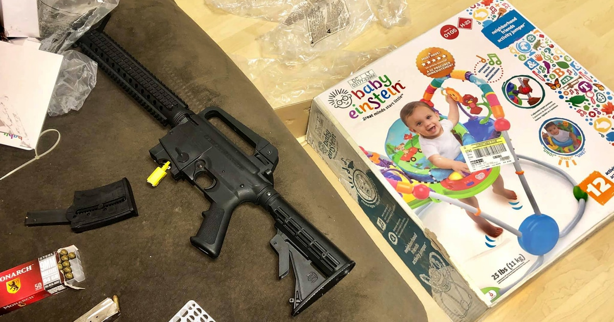 Florida couple finds semi-automatic rifle hidden in baby shower gift from Goodwill
