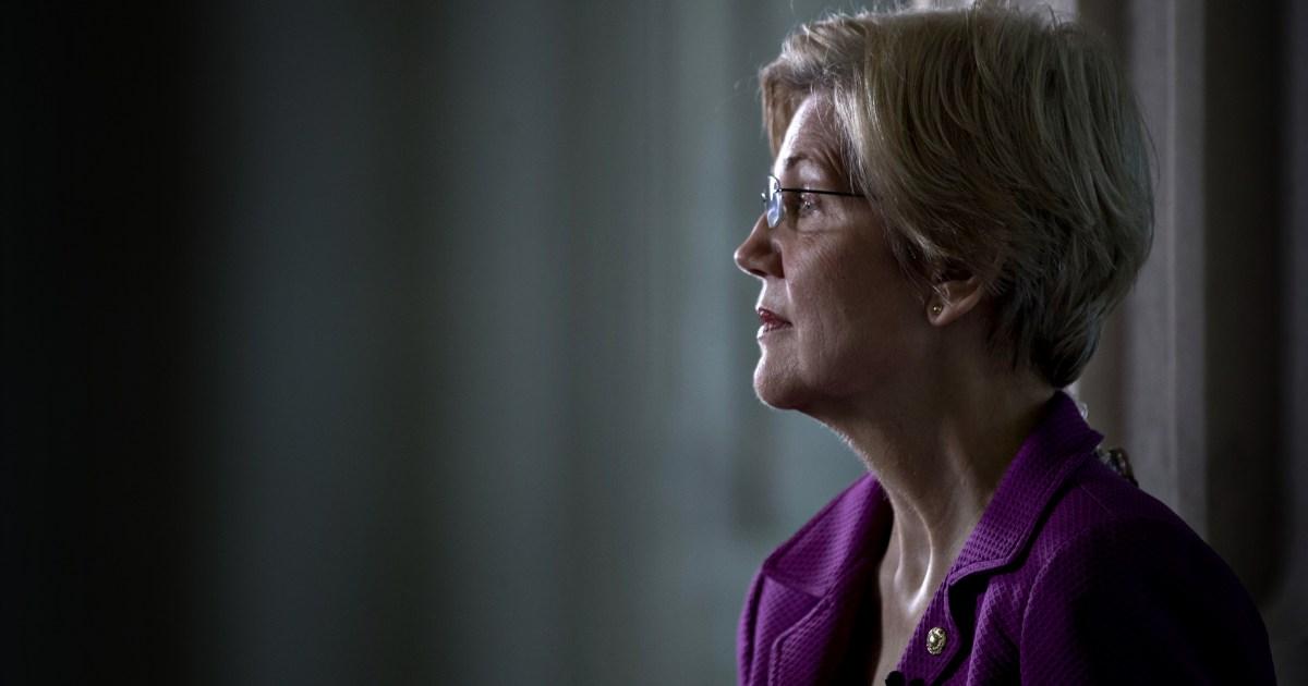 Warren wirbt wirtschaftlichen Weltanschauung, setzen die Gegner auf Ankündigung