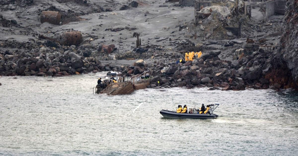 ニュージーランドチームの回復に伴6団体からの離島の火山噴火