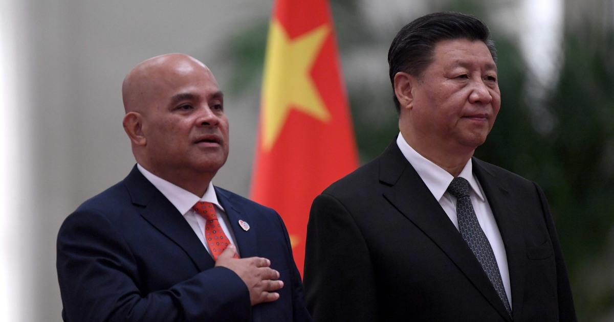 なぜこの小さな太平洋国家くのVIP処理北京?