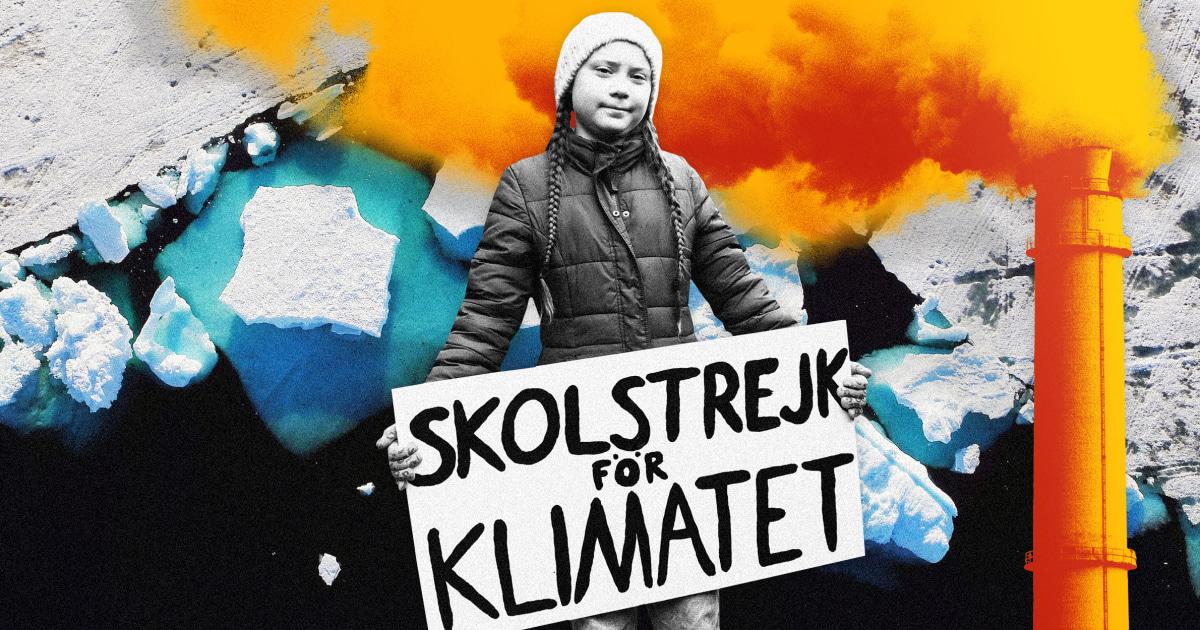 グレタ-Thunbergブレーズドパスの年間の気候変動