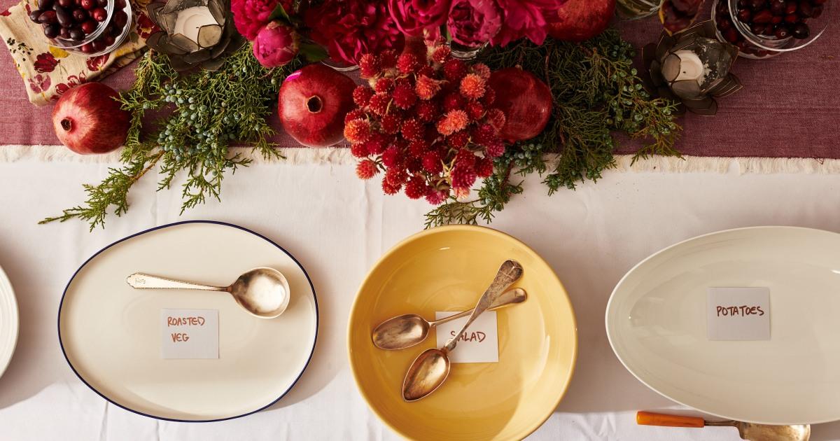 Verwenden Sie diese Blaupause für eine einfache und elegante Silvester-buffet