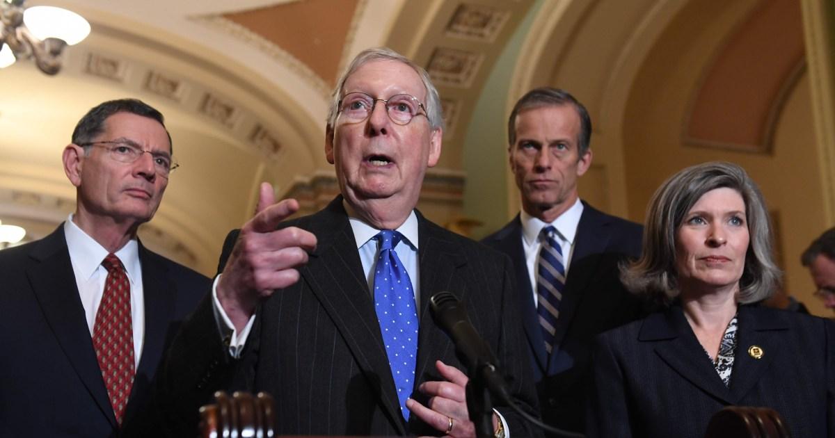 McConnell erklärt 'Sackgasse', in Gesprächen mit Demokraten über Trump-Studie im Senat