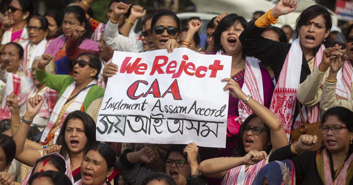 23死者としての抗議行動の成長に対しインド国籍法