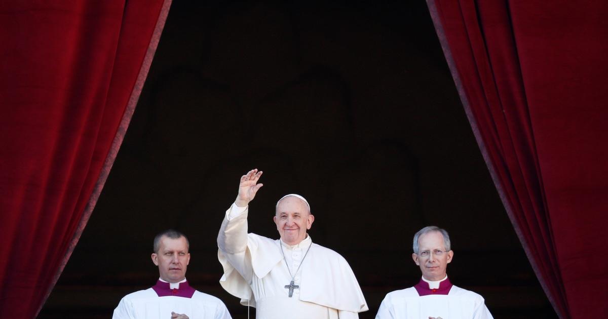 Papst bringt Hoffnung gegen die Dunkelheit in Christmas Day Nachricht