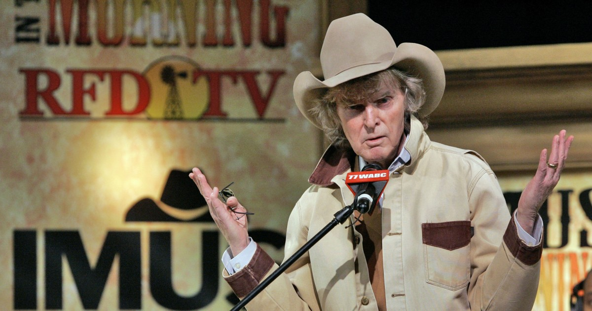 Radio broadcaster Don Imus has died