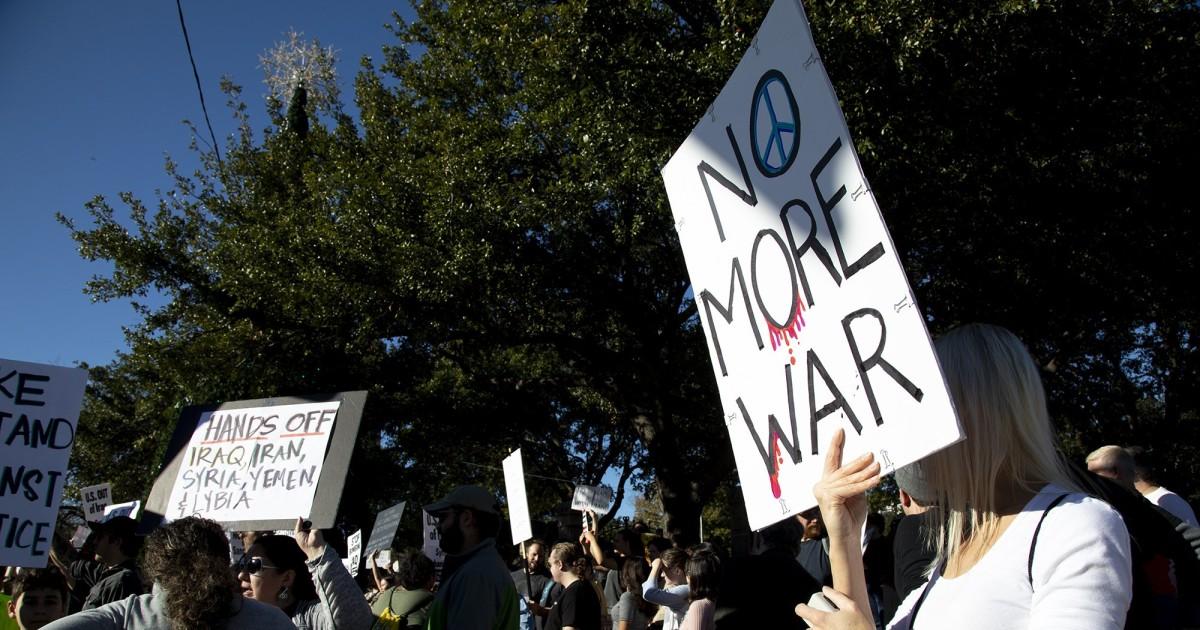 抗議行動を渡米国を非難するアイラン-イラク