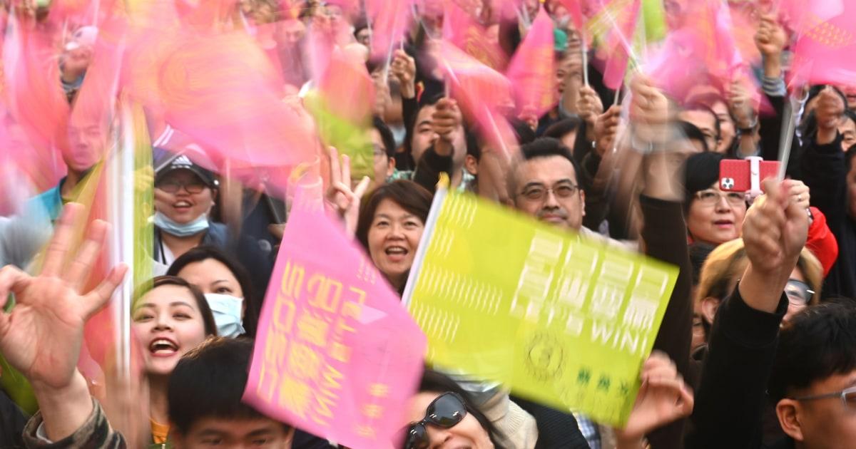 Taiwans Führer wiedergewählt als Wähler zurück zäh China Haltung