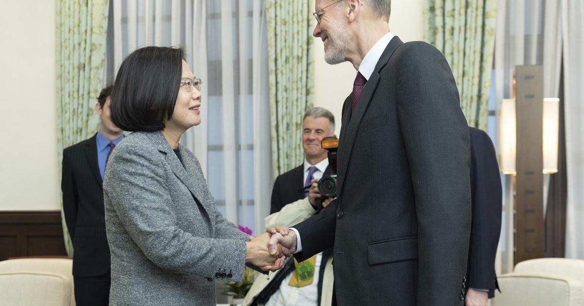 Ταϊβάν ηγέτης συναντιέται με τα αμερικανός αξιωματούχος μετά την εκλογική νίκη