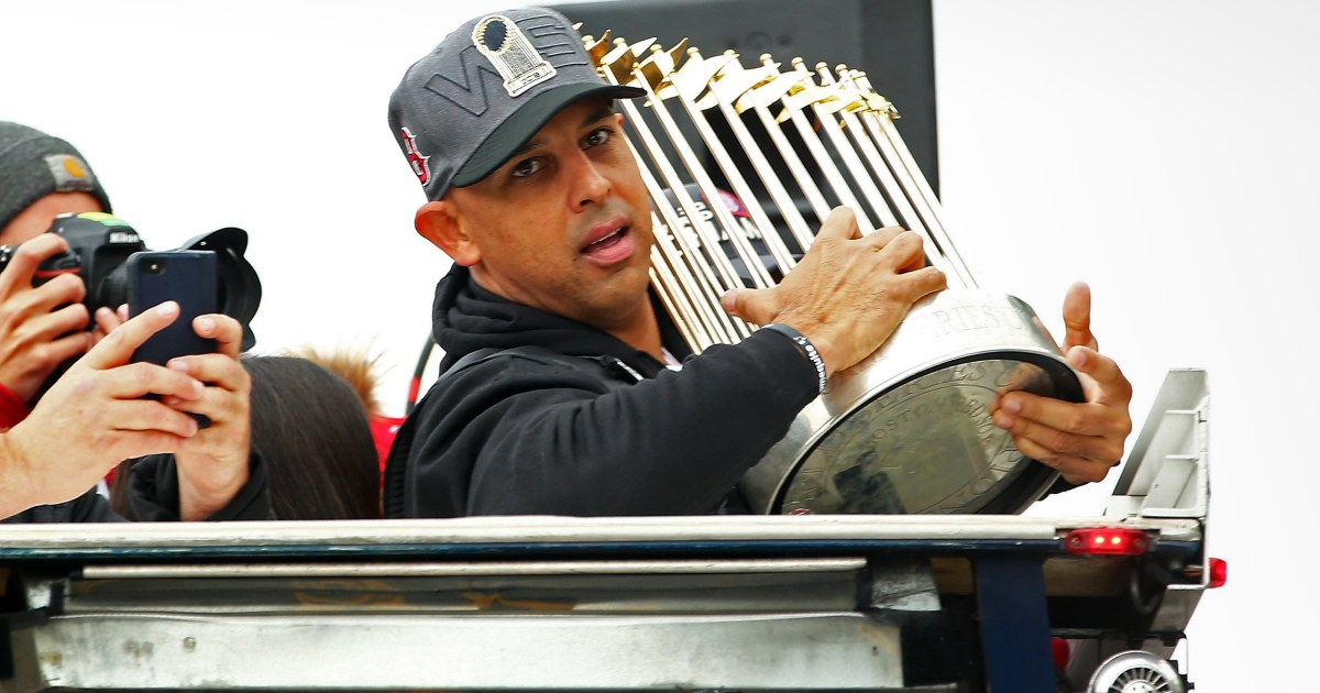 Red Sox Brand manager Alex Cora inmitten Astros