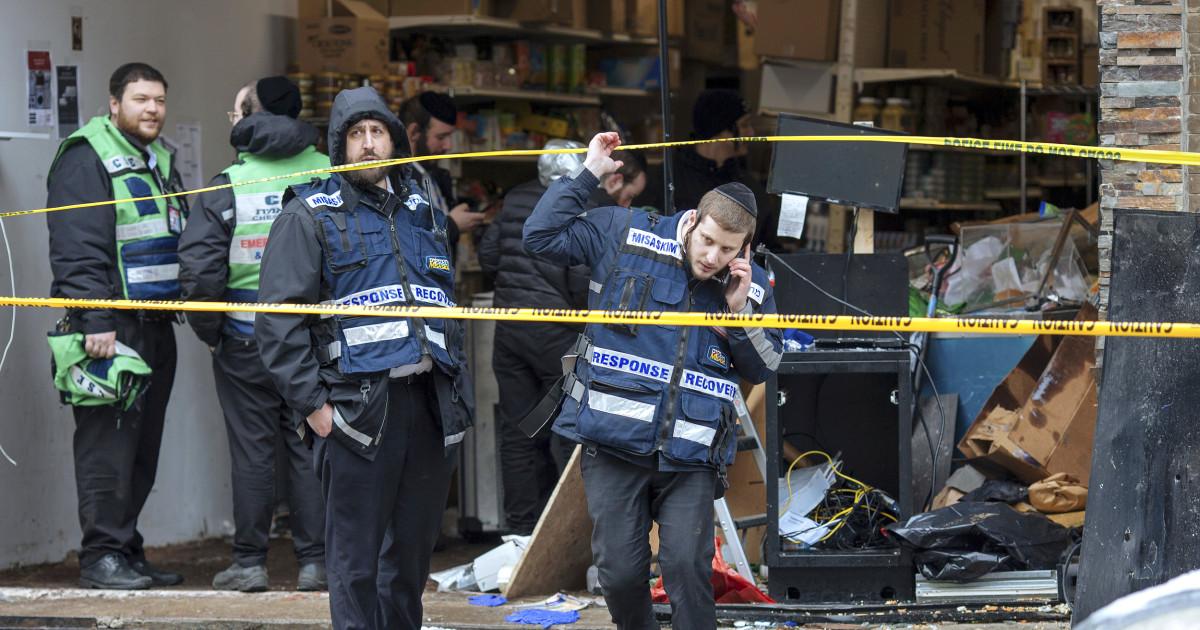 ジャージーシティの攻撃者のた爆弾が死んだとされていた'、数十人の職員が言