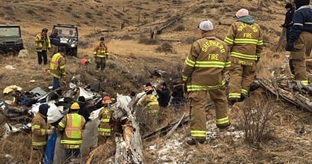 すべての四人乗りの機体が墜落、イエローストーン、モンタナの死者を出した