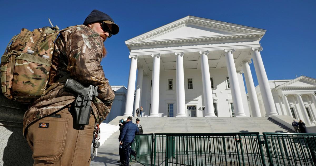 Unter Berufung auf Bedrohungen, Virginia verbietet Waffen aus Gewehr-Rechte-Rallye