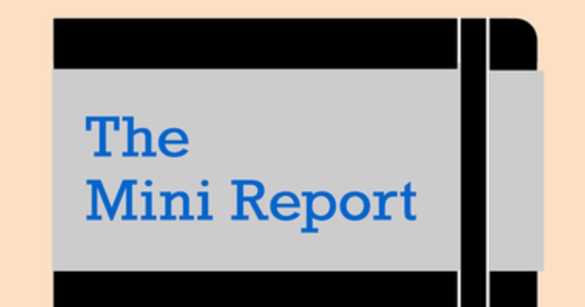 Donnerstag ist Mini-Bericht, 1.16.20