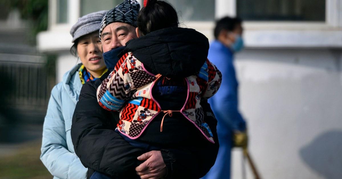 中国:新しいウイルスのとれた人間