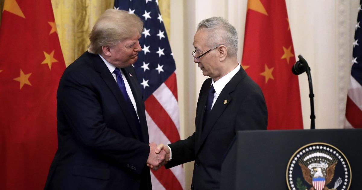 US-und China-Zeichen $200 Milliarden-trade-deal, nach fast 2 Jahren sparring