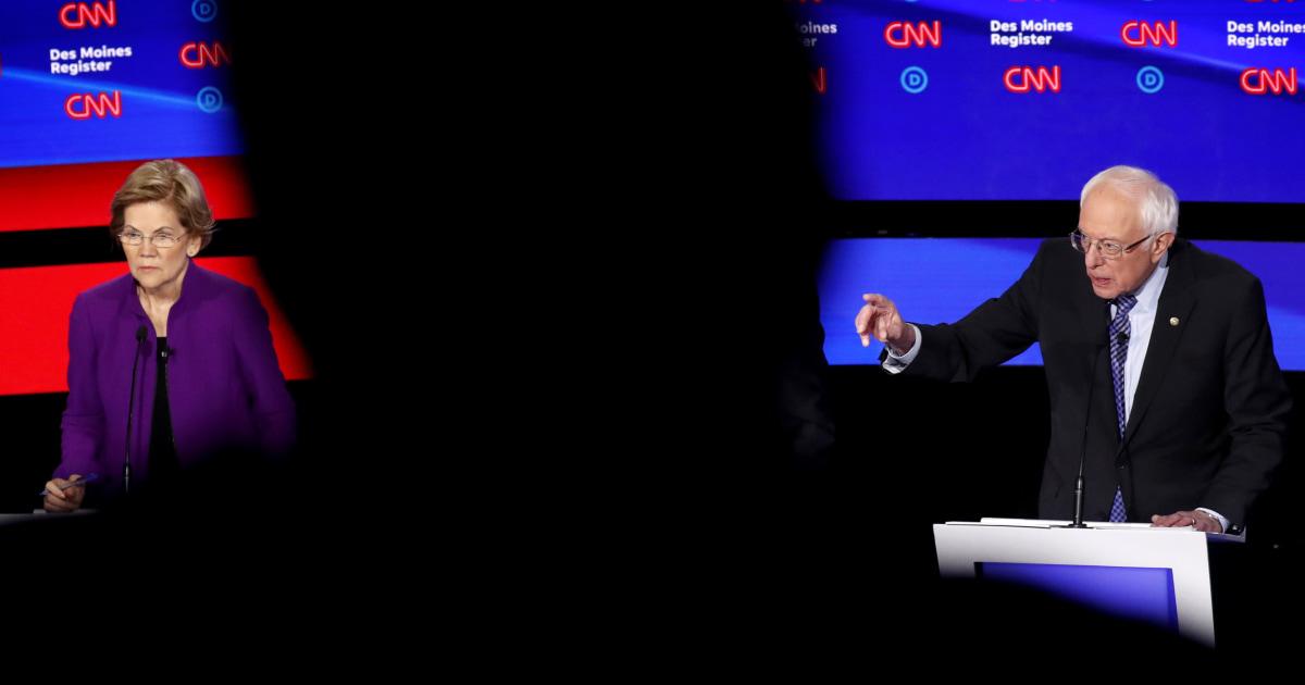 Doomsday-Szenario auf der linken Seite: Warren, Sanders, die sich gegenseitig zerstören, während Biden-skates in