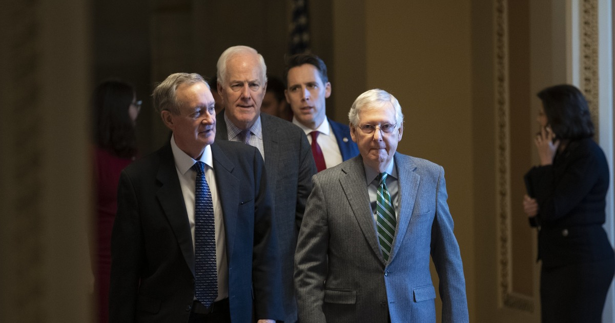 Lesen, campaigning, zu beten: - Senatoren machen Sie sich bereit für die Trumpf Amtsenthebungsverfahren