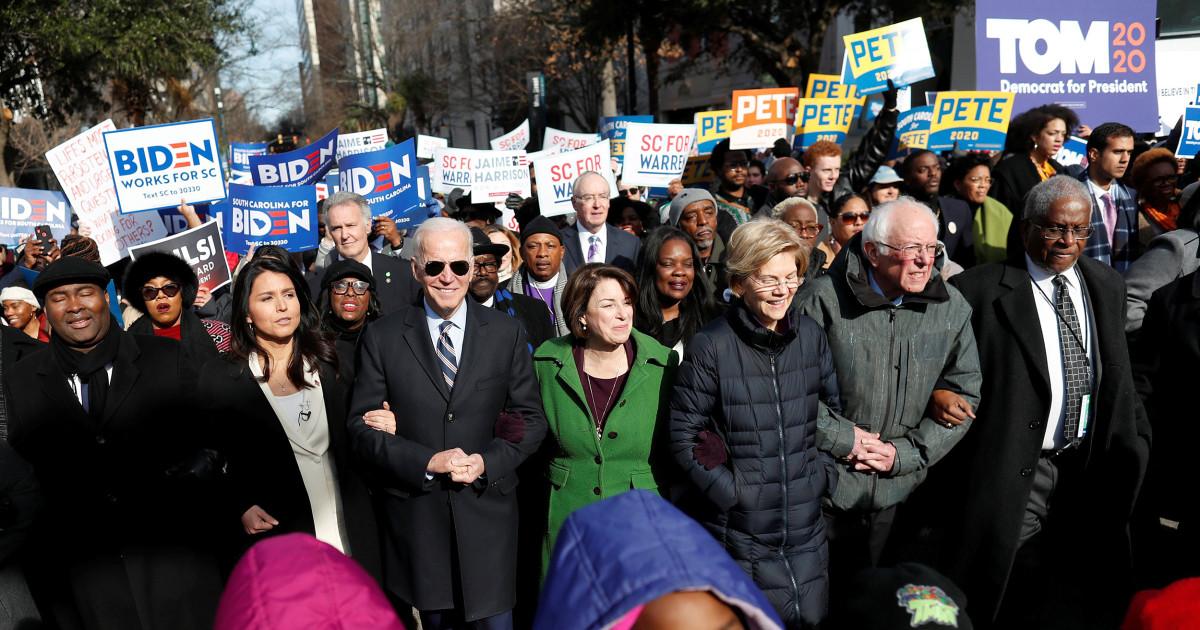 民主党候補月とMLK日中、キャンペーンsquabbles