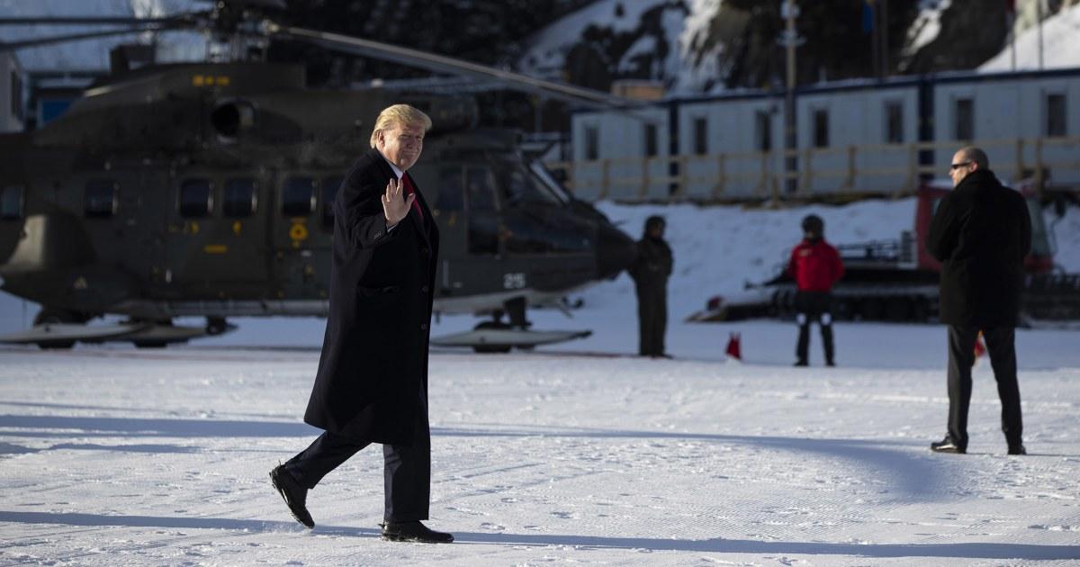 In Davos, Trumpf fordert Amtsenthebungsverfahren ein Dauerbrenner 'Schwindel'