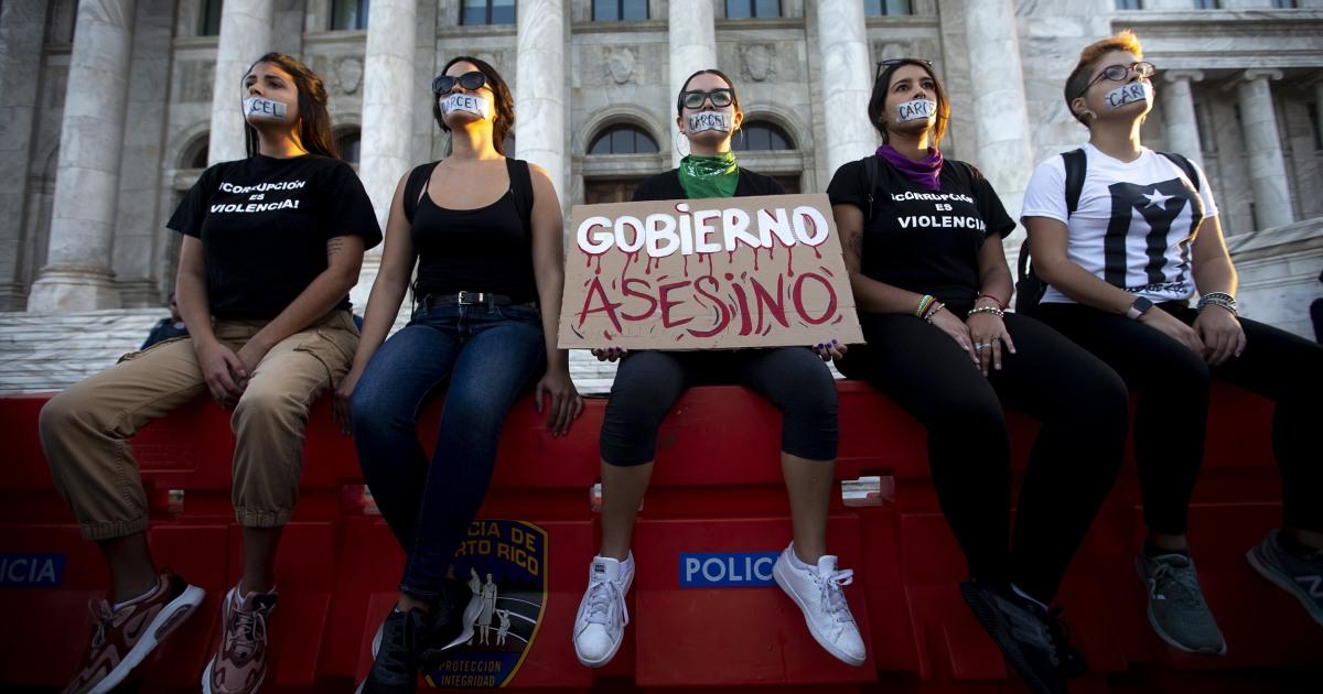 Zweifel Oberfläche über Puerto-ricanische Gouverneur motivation, um das Feuer Gehäuse Sekretär