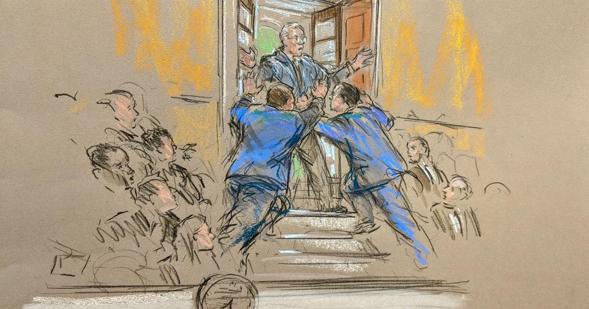 抗割り込みを行う上院impeachment、大声で怒鳴'Schumerはデビル'
