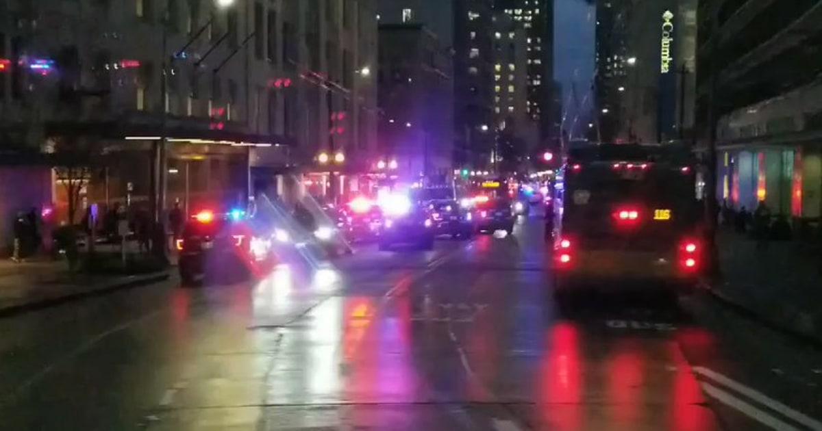 1 Toter, mindestens 5 Verletzte in der Innenstadt von Seattle Schießen, Verdacht bei großen